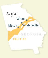 Georgias Physical Features Lessons Tes Teach - Georgia map fall line